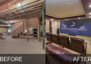 Naperville Basement Before & After Pictures - Sebring Services