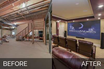Naperville Basement Before & After Pictures - Sebring Services