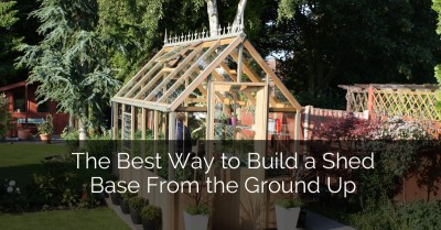 The Best Way to Build a Shed Base From the Ground Up - Sebring Services