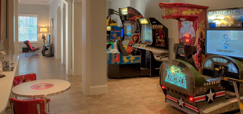 Small Basement Gaming Room