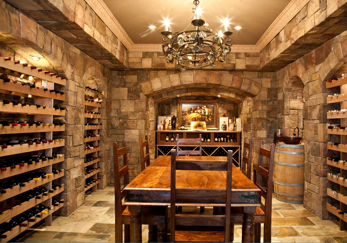 Wine cellar basement images galleries for Wine room ideas