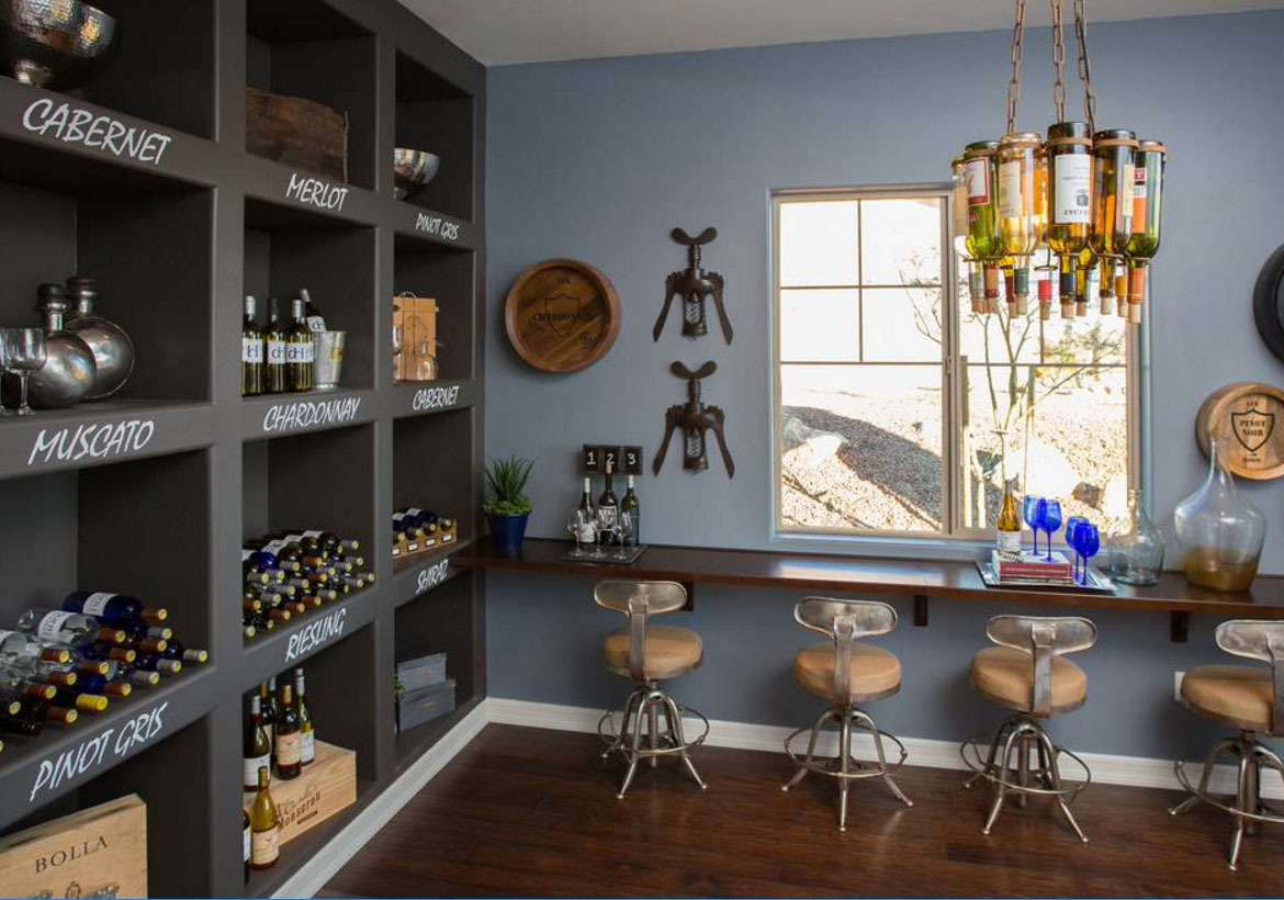 Home wine cellar room simple wine cellar and tasting room for Custom home selection form