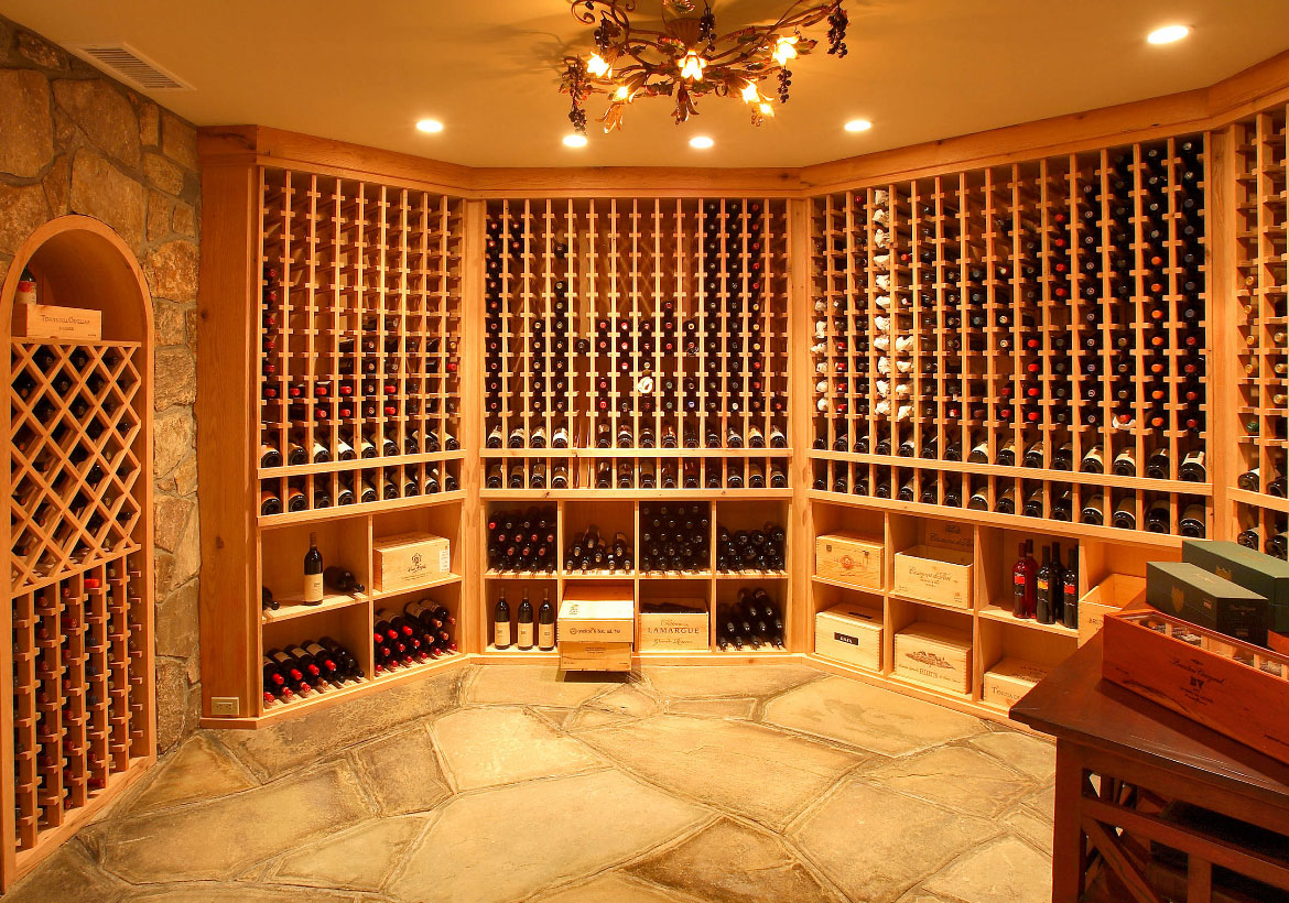 Home wine cellar design for Wine room ideas