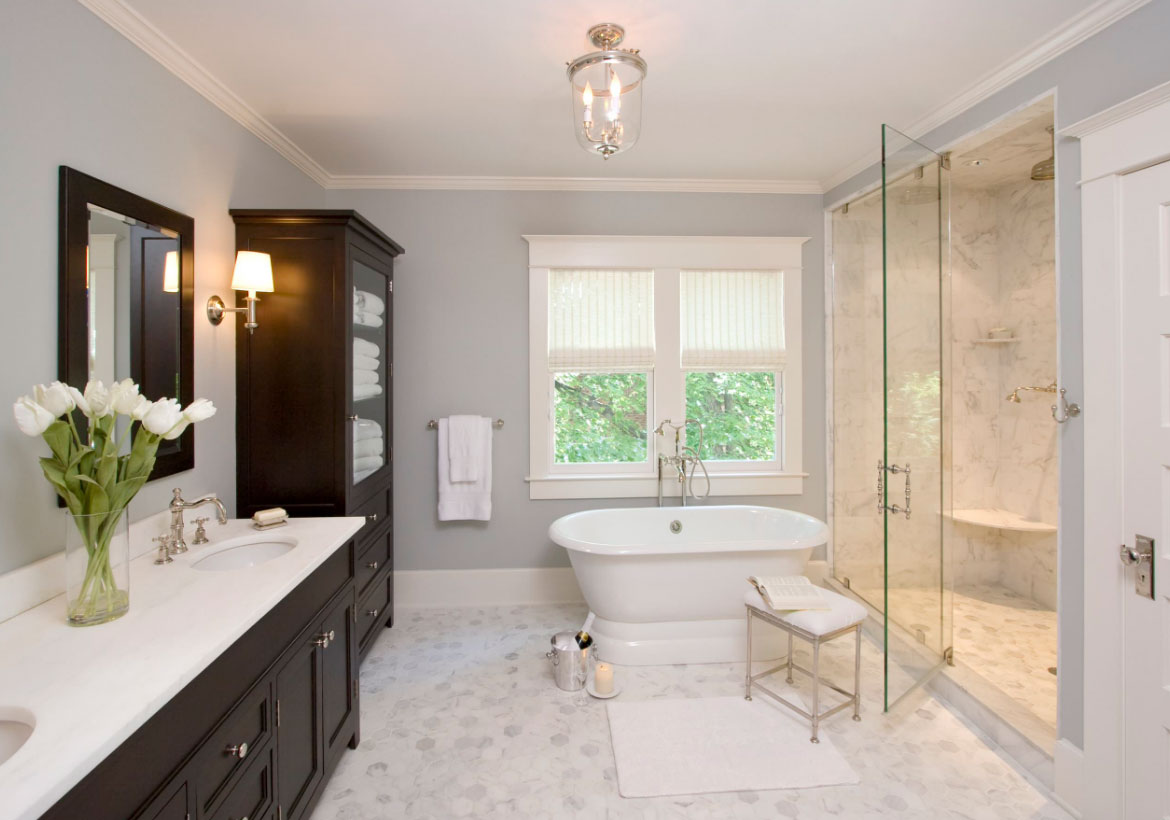 33 custom bathrooms to inspire your own bath remodel for Custom bathroom designs
