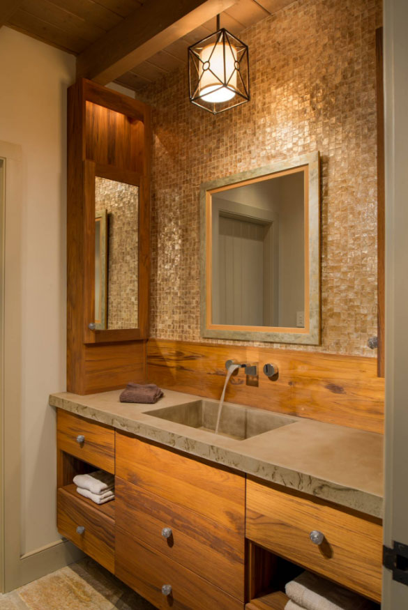 33 custom bathrooms to inspire your own bath remodel for Custom bathroom design