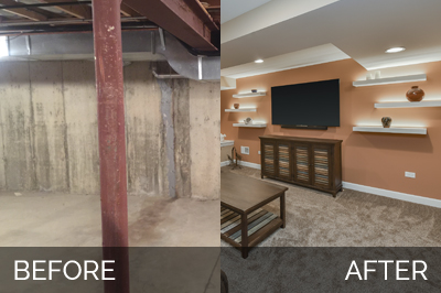 Caroleu0027s Basement Before U0026 After Pictures | Home Remodeling Contractors |  Sebring Design Build