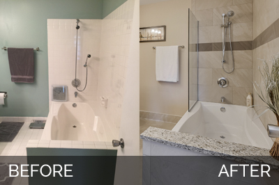 Willowbrook Before & After Master Bathroom Project - Sebring Services