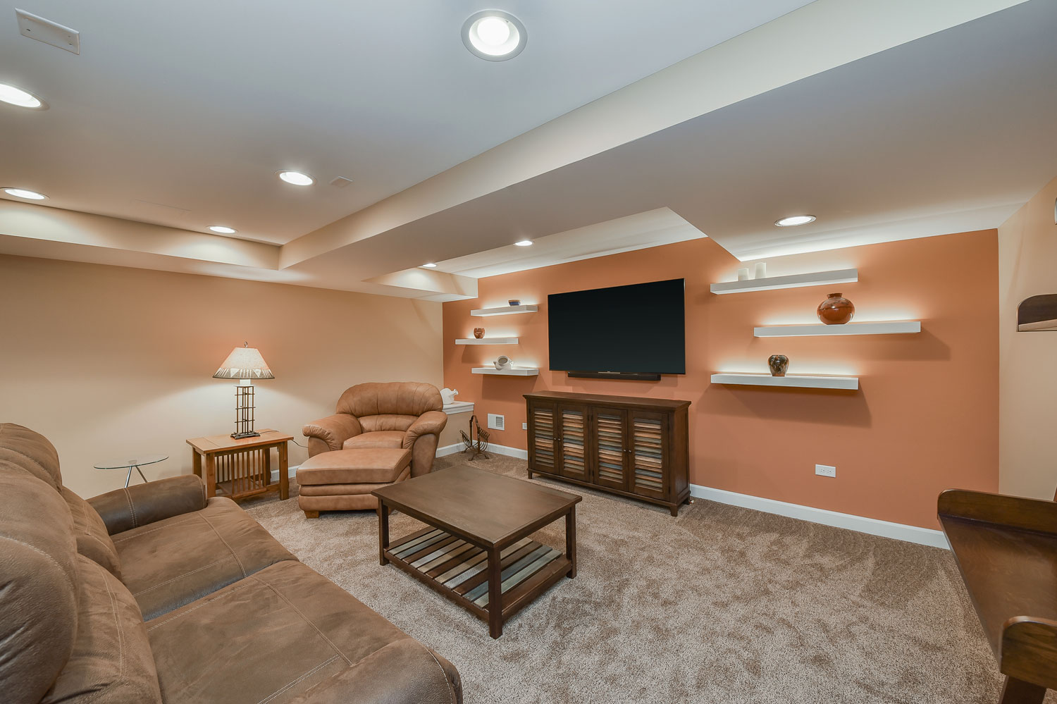 Carole 39 s basement remodel pictures home remodeling contractors sebring services - Remodel basement ideas ...