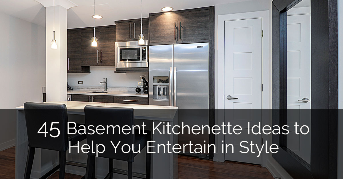 45 basement kitchenette ideas to help you entertain in style home remodeling contractors sebring design build - Basement Kitchen