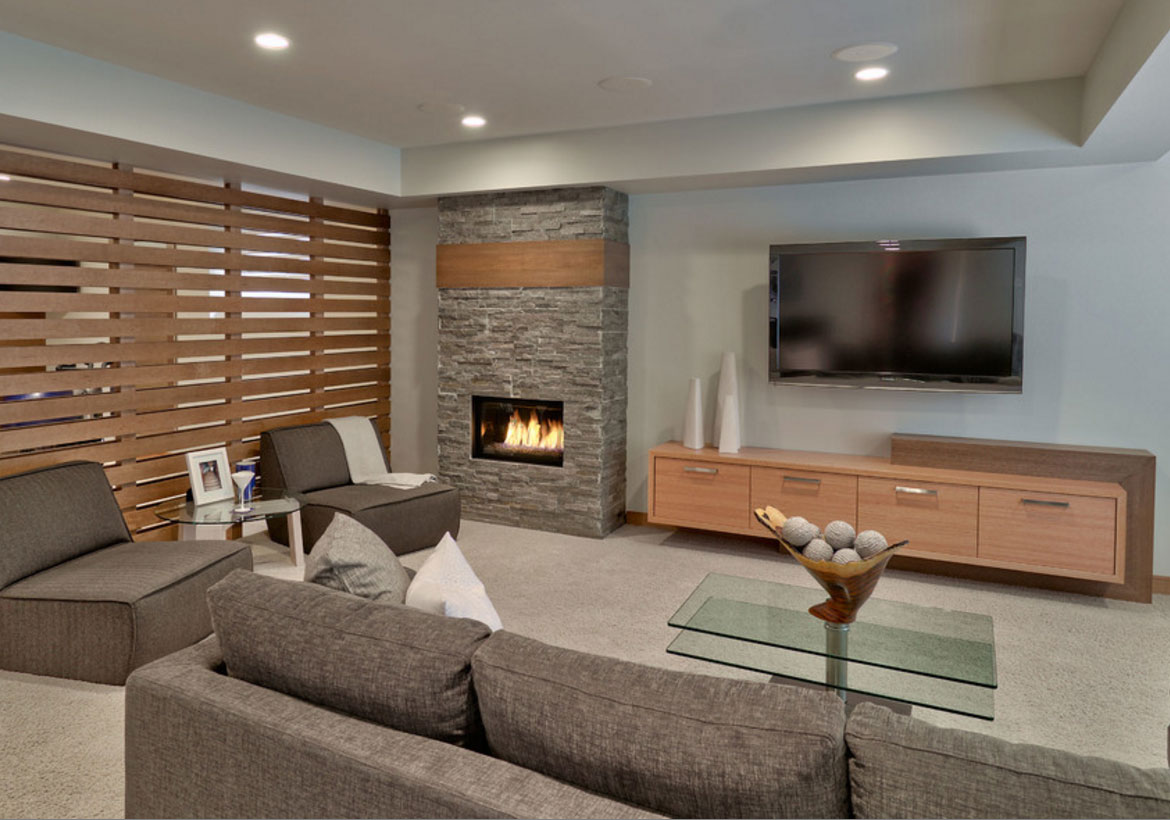 Living Room Modern 50 Modern Basement Ideas To Prompt Your Own Remodel Home