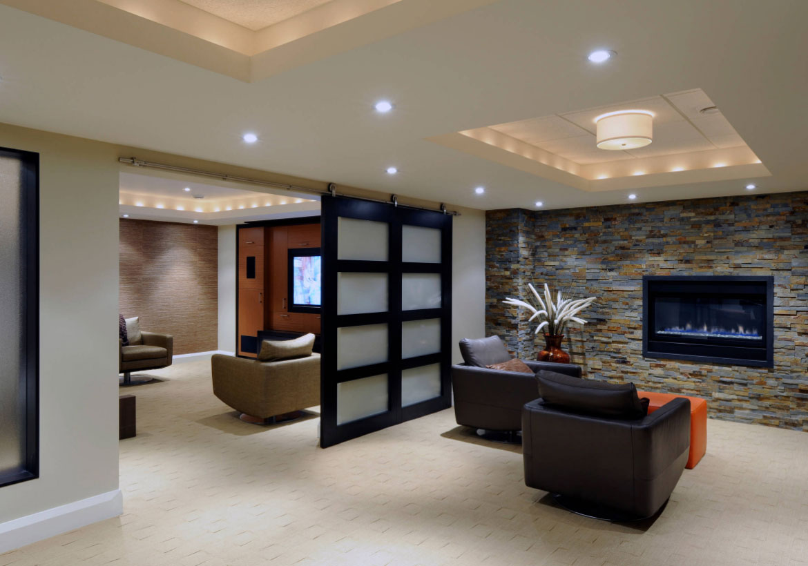 Image of: 72 Really Cool Modern Basement Ideas Home Remodeling Contractors Sebring Design Build