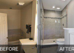 Naperville Master Bathroom Before & After - Sebring Services