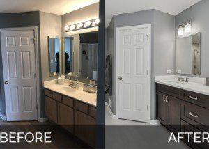 Plainfield Master Bathroom Before & After - Sebring Services