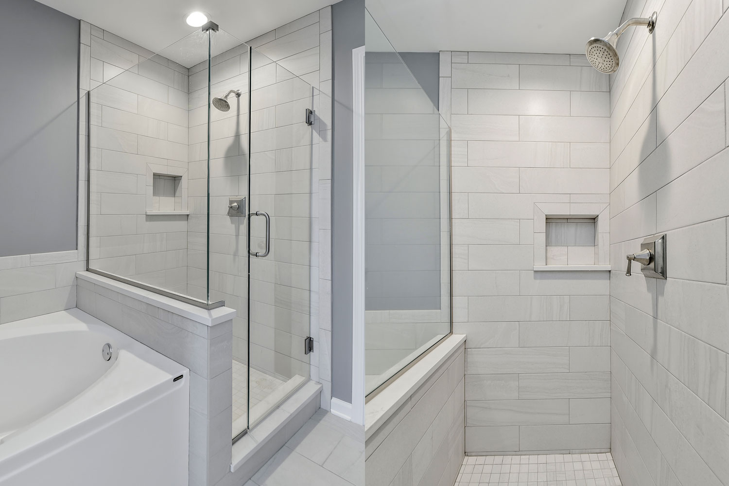 Pete mary 39 s master bathroom remodel pictures home for Bathroom remodeling services