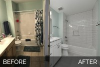 Plainfield Hall Bathroom Before & After - Sebring Services