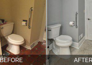 Warrenville Powder Room Before & After - Sebring Services