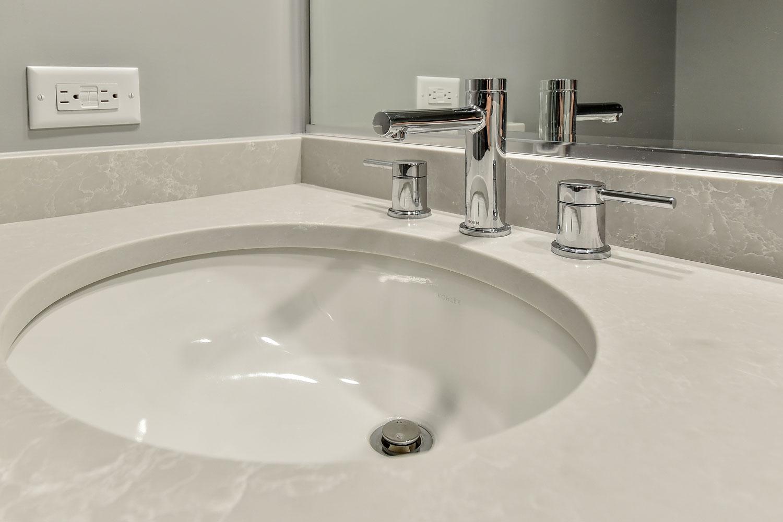 Warrenville Powder Room Remodel - Sebring Services