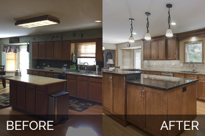 Plainfield Kitchen Before & After - Sebring Services