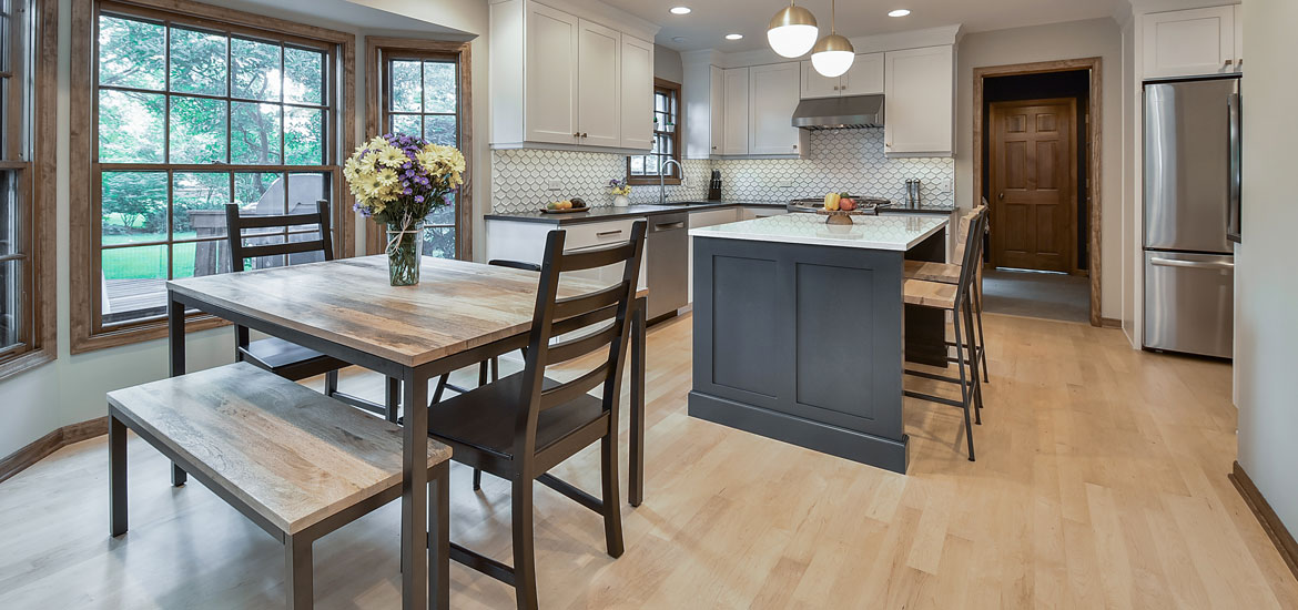 Standard height counter height and bar height tables guide home remodeling contractors - Kitchen island height standard ...