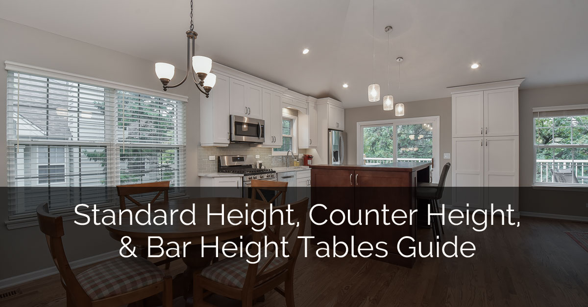 Standard Height, Counter Height and Bar Height Tables Guide ...
