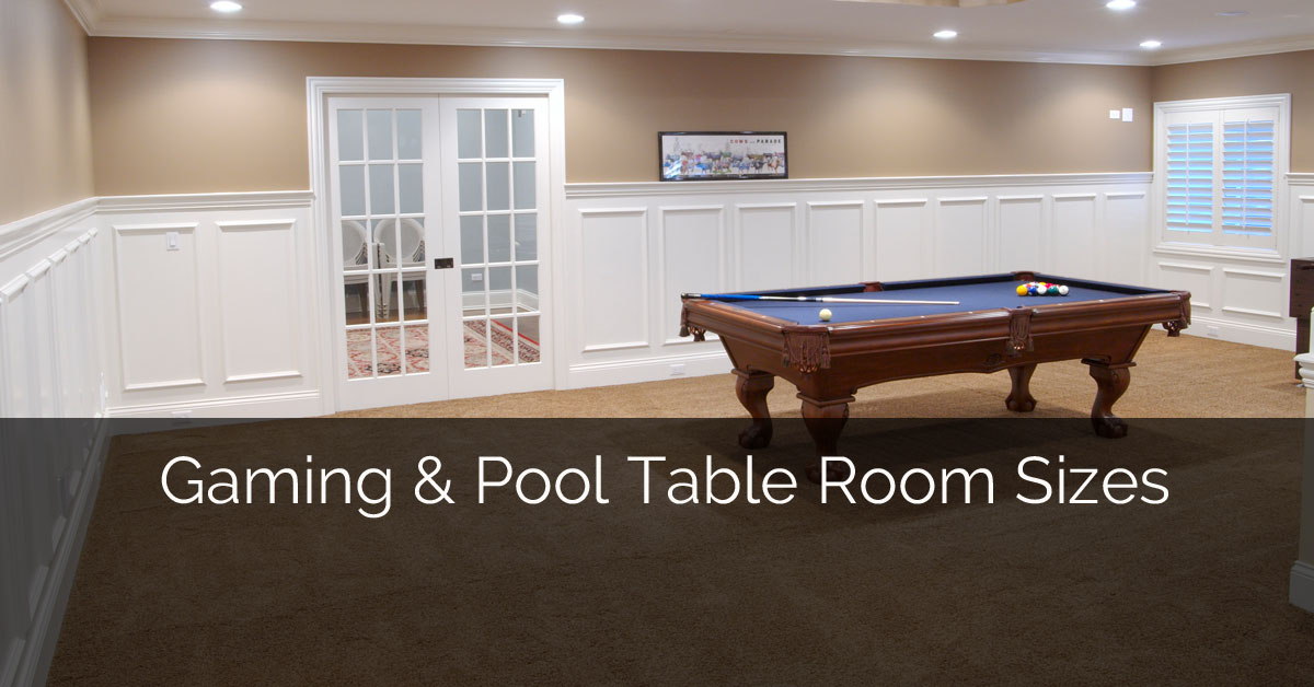 Gaming and Pool Table Room Sizes | Home Remodeling