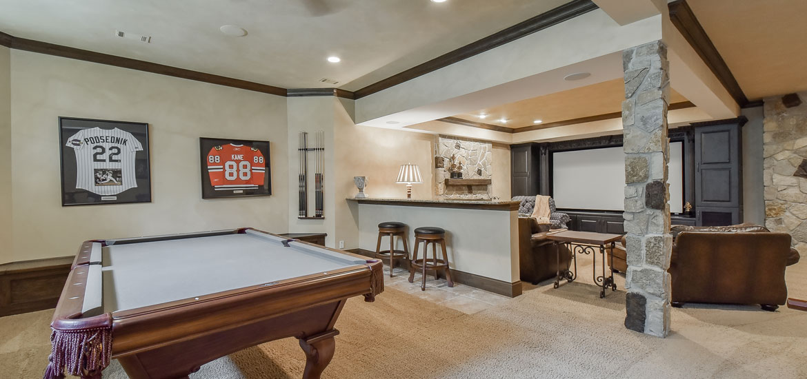 Gaming and pool table room sizes home remodeling contractors sebring services - Space needed for pool table ...