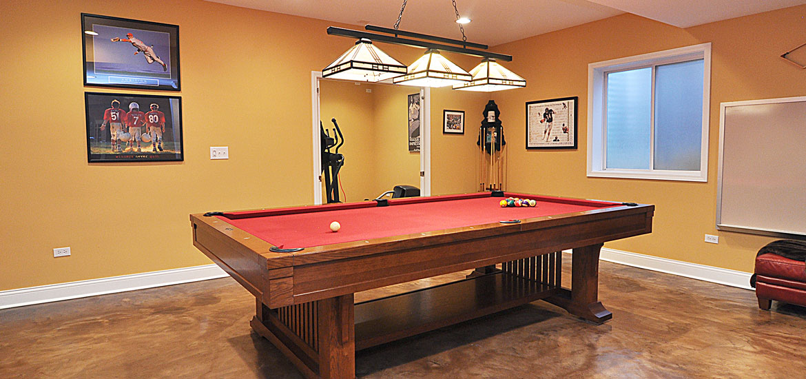 Gaming and Pool Table Room Sizes