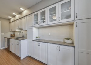 White Cabinets, Modern Clean Grey Paint, Subway Tile, Stainless Appliances - Sebring Design Build