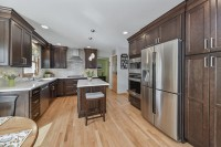 Lisle Kitchen Remodeling White Quartz Dark Cabinets Sebring Services