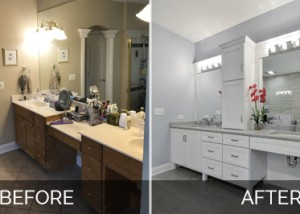 Naperville bathroom curbless modern Before & After Pictures - Sebring Services