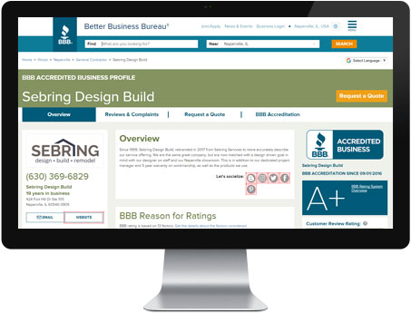 Better Business Bureau Reviews - Sebring Design Build