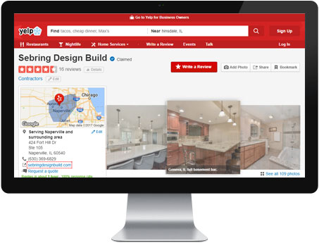 Yelp Reviews - Sebring Design Build