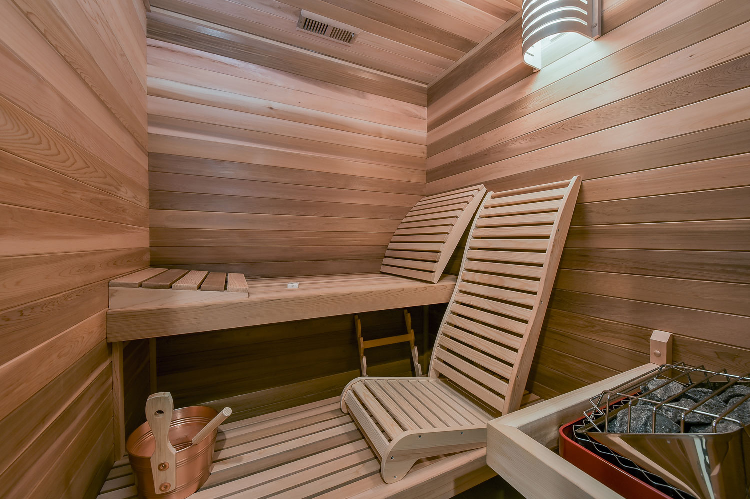 Dennis adelina 39 s basement remodel pictures home for Building a sauna in the basement
