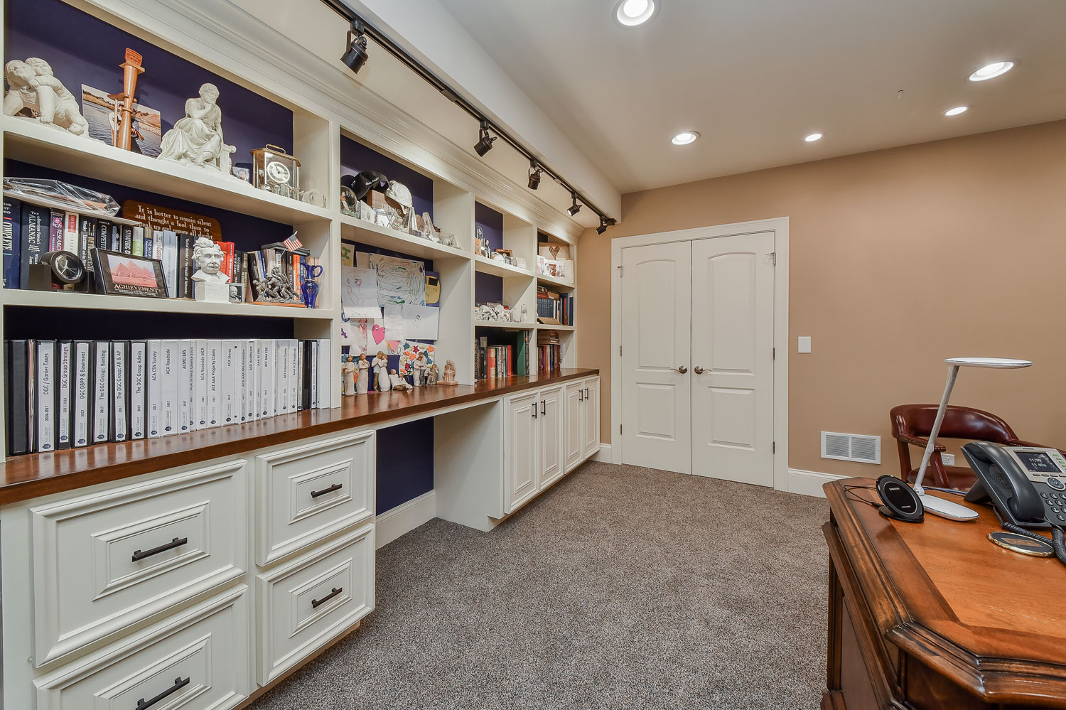 Downers Grove Basement Remodel with Sauna, Steam Shower, Office - Sebring Design