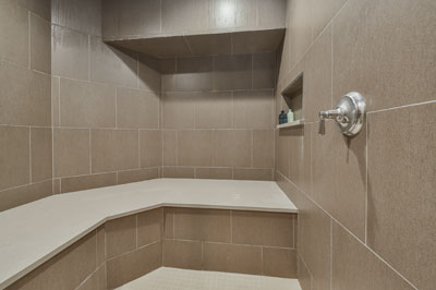 Downers Grove Basement Bathroom Remodel with Sauna, Steam Shower - Sebring Design Build