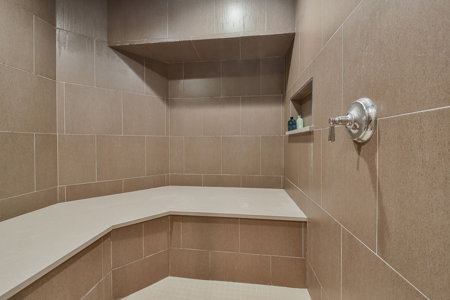 Dennis adelina 39 s basement bathroom pictures home for Building a sauna in the basement