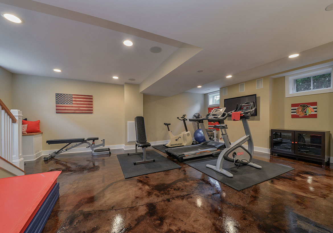 Home Gym Design: 47 Extraordinary Basement Home Gym Design Ideas