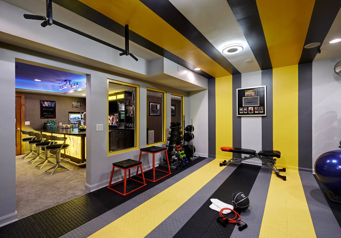 47 extraordinary home gym design ideas home remodeling contractors sebring design build. Black Bedroom Furniture Sets. Home Design Ideas