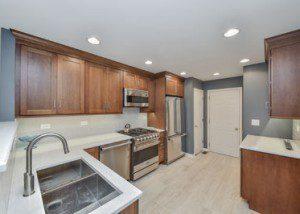 Lisle Kitchen Remodel, Quartz, Grey Subway Tile - Sebring Design Build