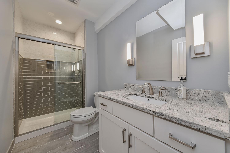 Naperville Basement Bathroom Remodeling Project - Sebring Design Build