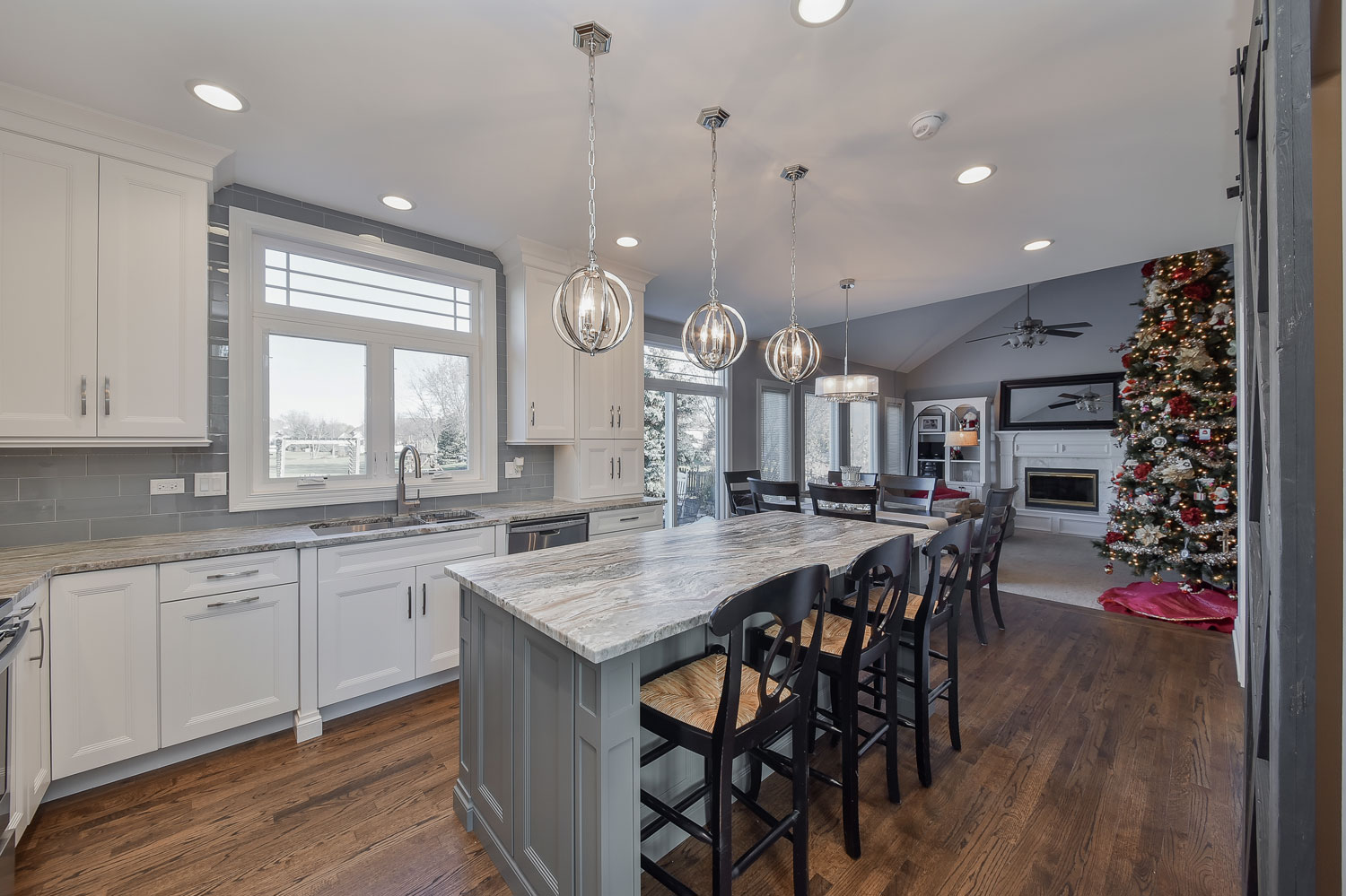 's Naperville Kitchen Remodel Pictures, Featuring White Quartz Countertops - Sebring Design Build