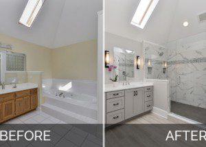 Naperville Master Bathroom Before and After Pictures - Sebring Design Build