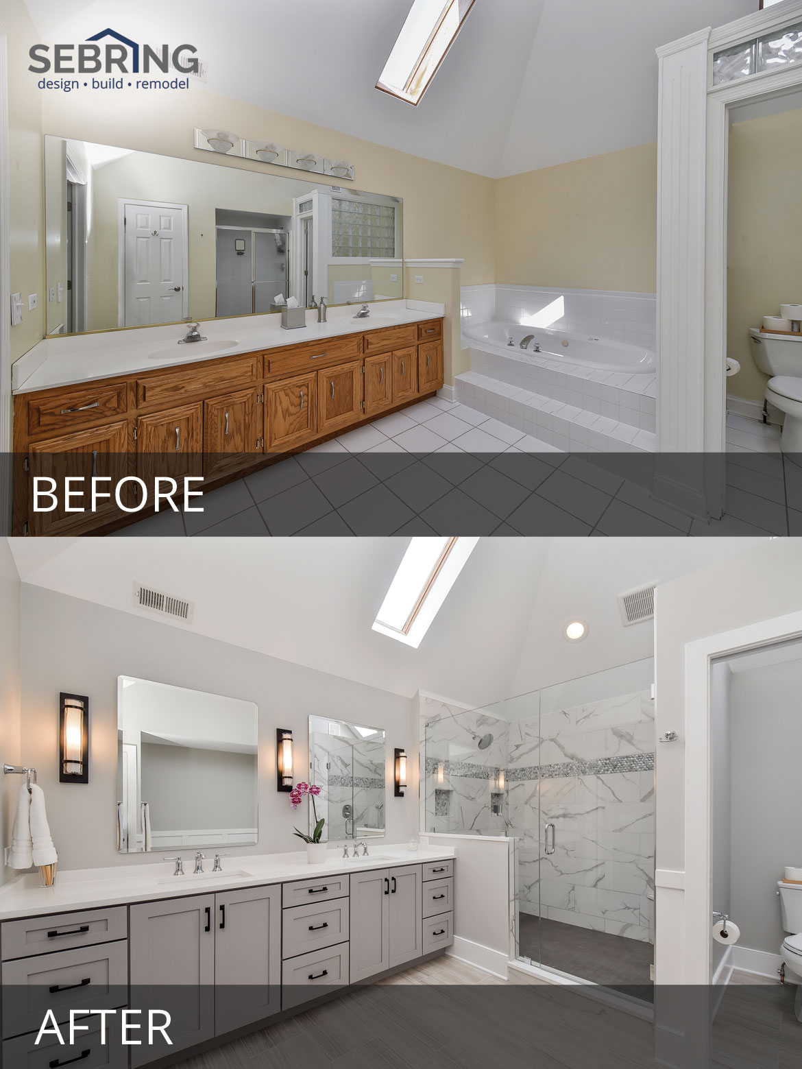 Sarah & Ray's Master Bathroom Before & After Pictures