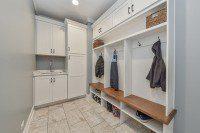 Naperville Mudroom Cubbies Laundry Room Attic - Sebring Design Build