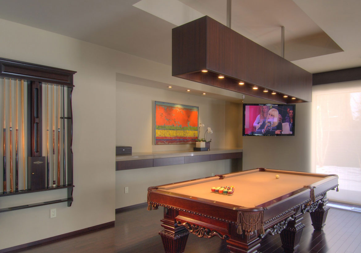 49 cool pool table lights to illuminate your game room for Pool design london ontario