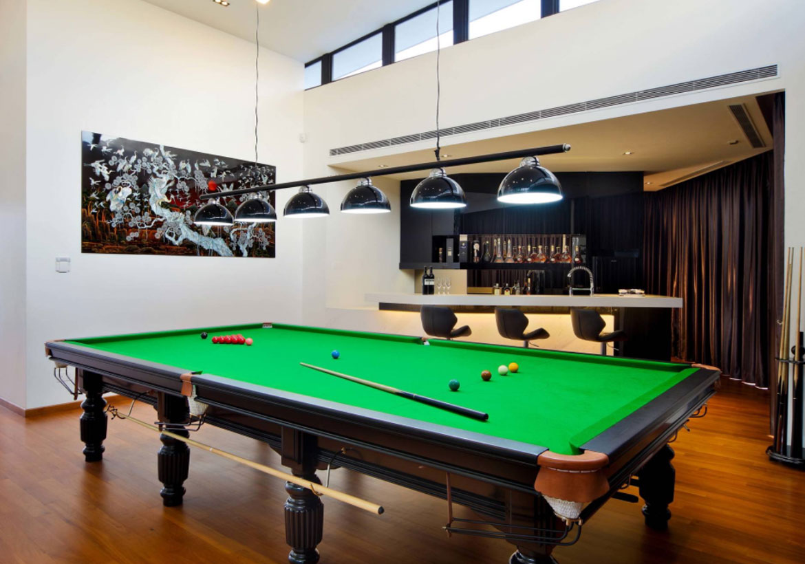 49 cool pool table lights to illuminate your game room for Pool design game