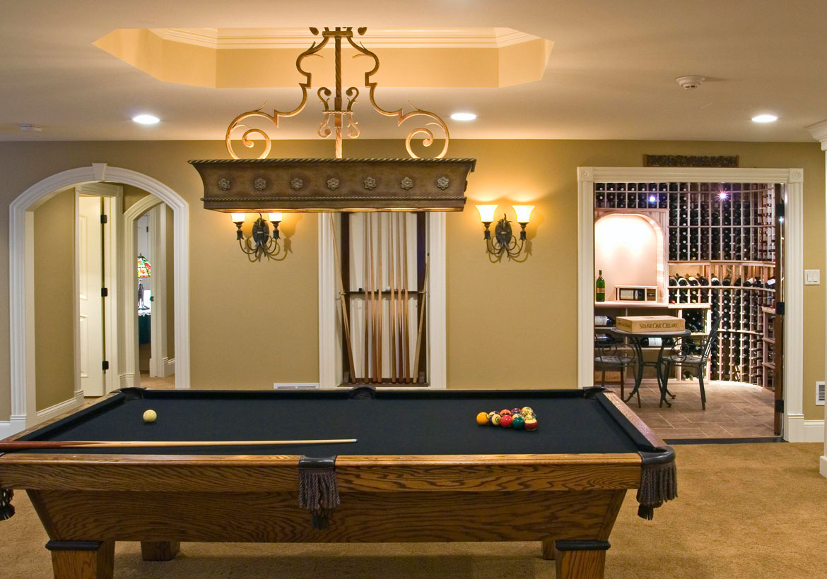 Cool Pool Table Lights To Illuminate Your Game Room Home - How much room for a pool table