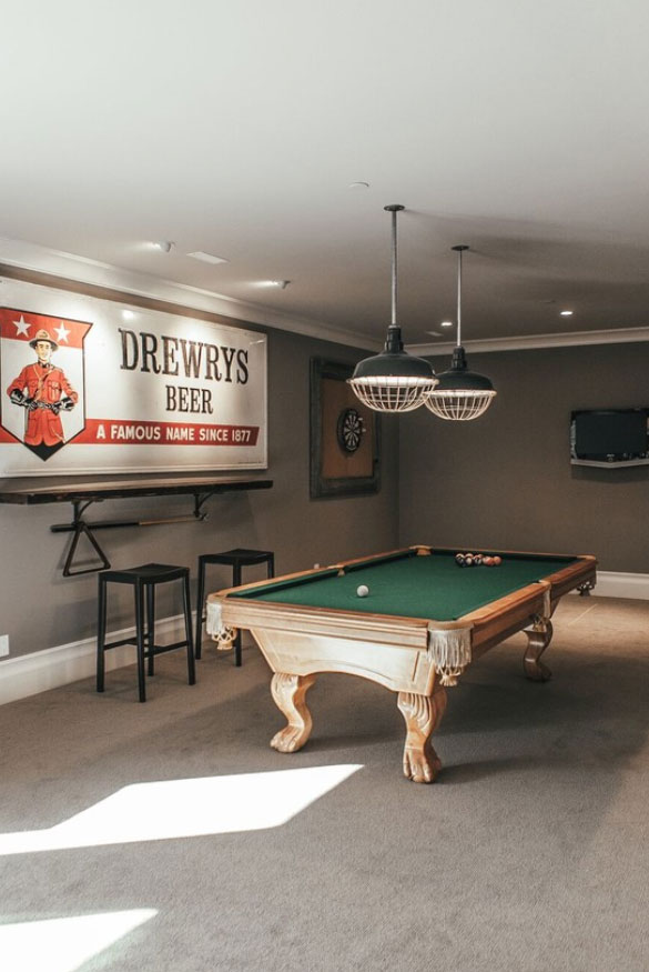 Charmant Cool Pool Table Lights To Illuminate Your Game Room   Sebring Design Build