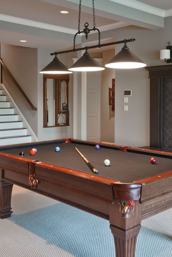 Cool Pool Table Lights To Illuminate Your Game Room Home - Classic billiard table