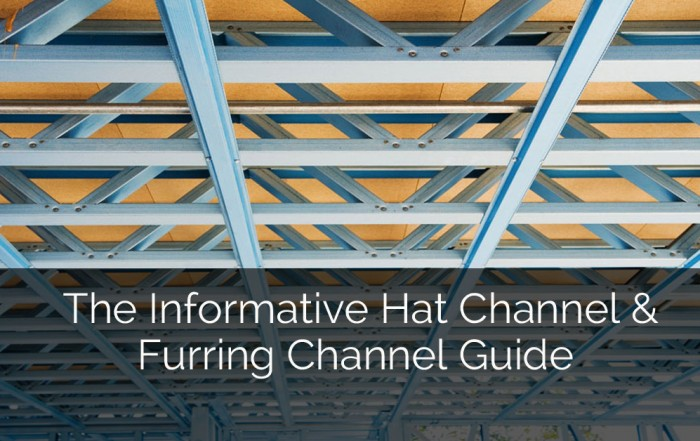 The Informative Hat Channel & Furring Channel Guide - Sebring Design Build